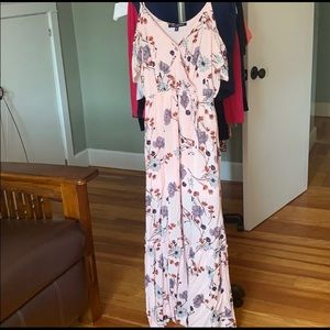 Beautiful Floral Off the Shoulder Maxi